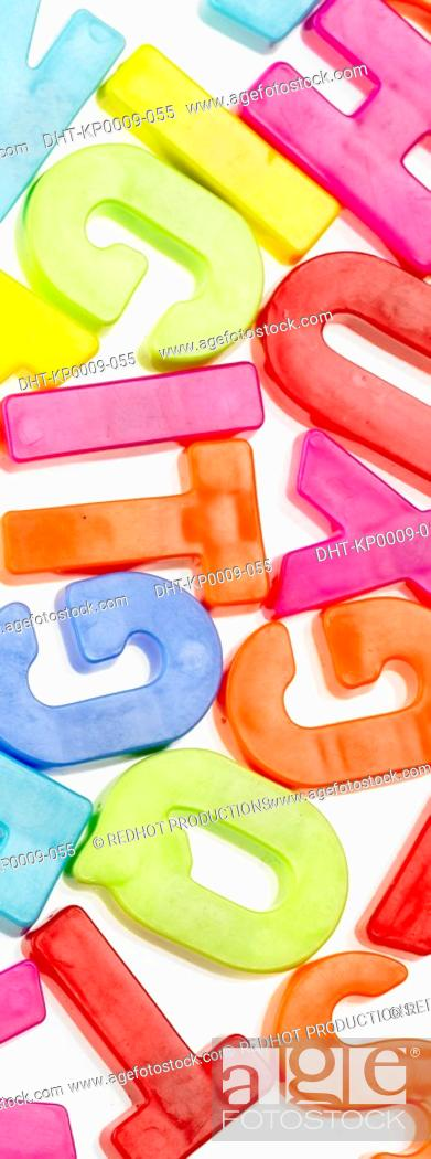 Stock Photo: Panoramic Colours, Letters.