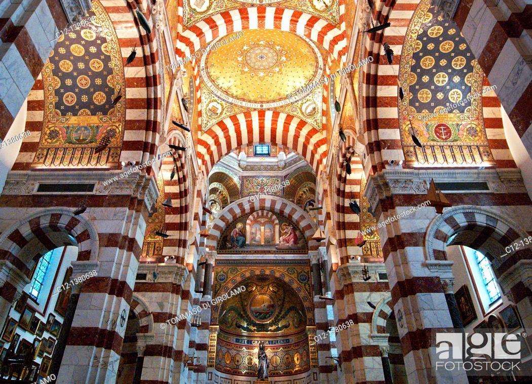 Stock Photo: France, Marseille, Notre Dame de la Garde.