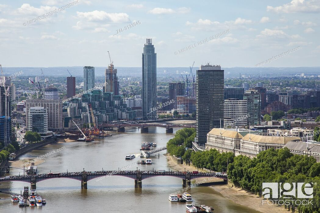 Imagen: Aerial View of London England from the London Eye.