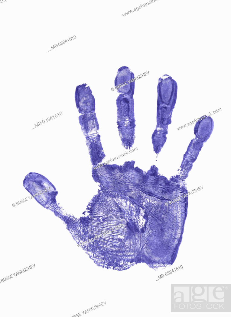 Hand Mark Blue Series Mark Hand Palm Fingers Papillarlinien