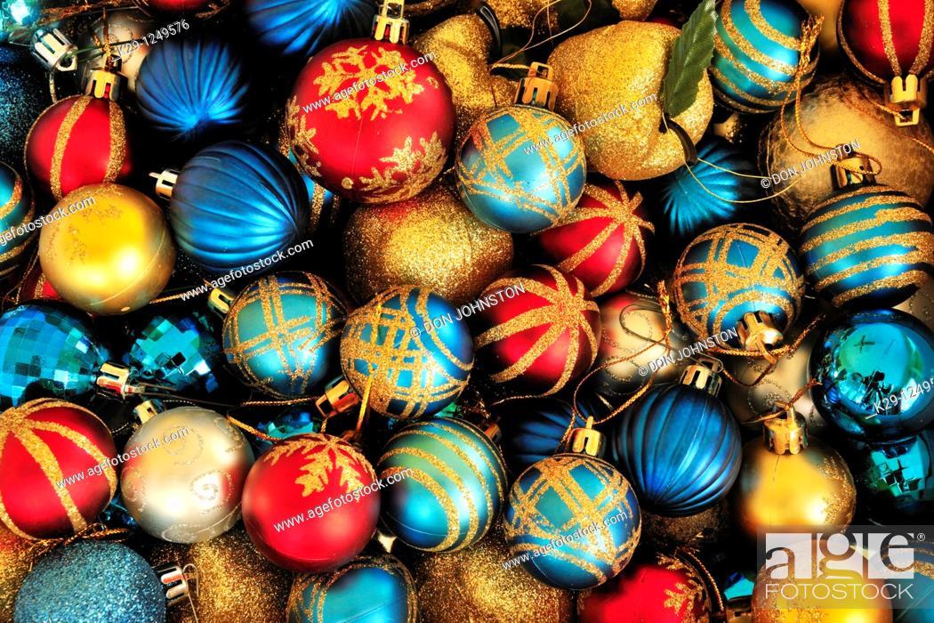 Stock Photo: Christmas tree decorations.