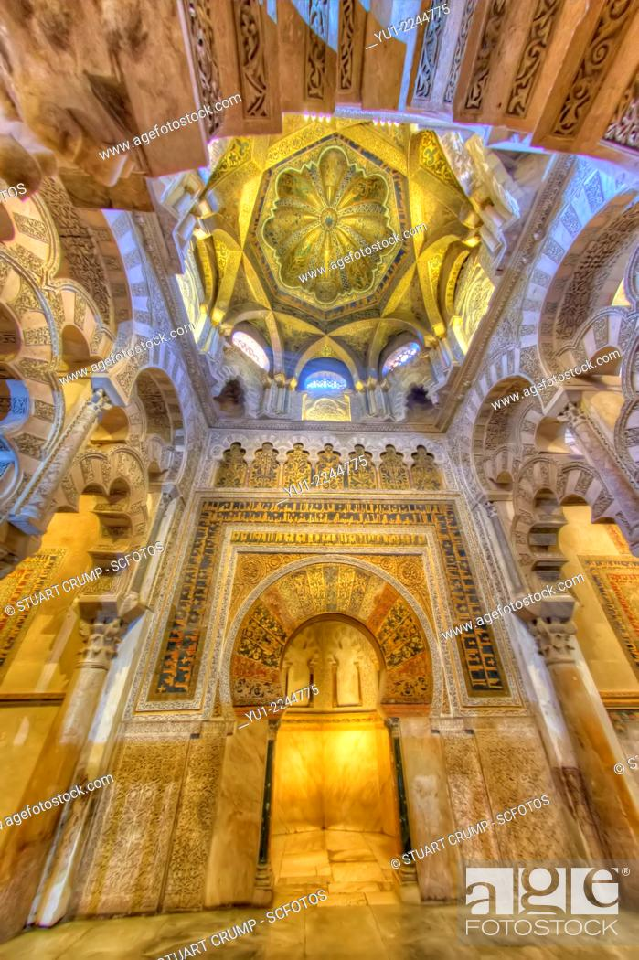 Imagen: HDR of the Mihrab interior of the Mosque-Cathedral of Córdoba, Córdoba, Spain.
