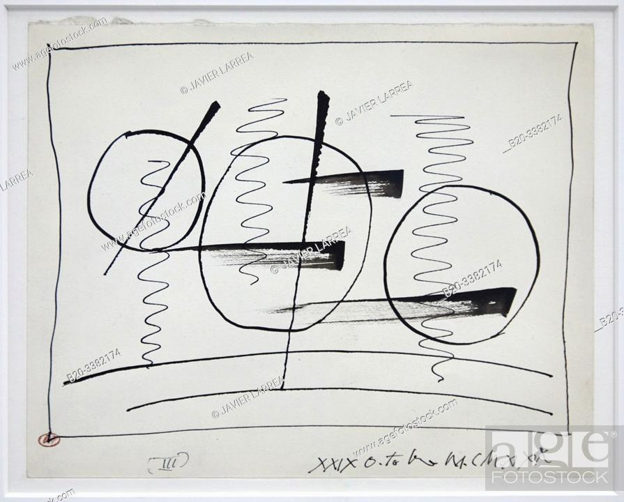 "Stock Photo: ""Circles and Signs.III"", 1930, Pablo Picasso, Picasso Museum, Paris, France, Europe."