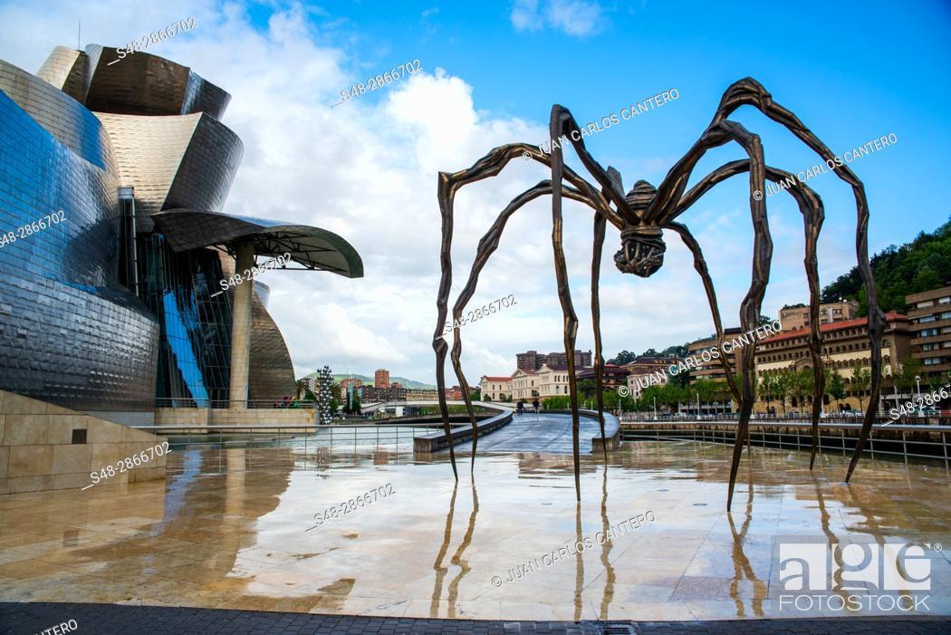 Guggenheim Museo.Museo Guggenheim Bilbao Vizcaya Basque Country Spain Europe