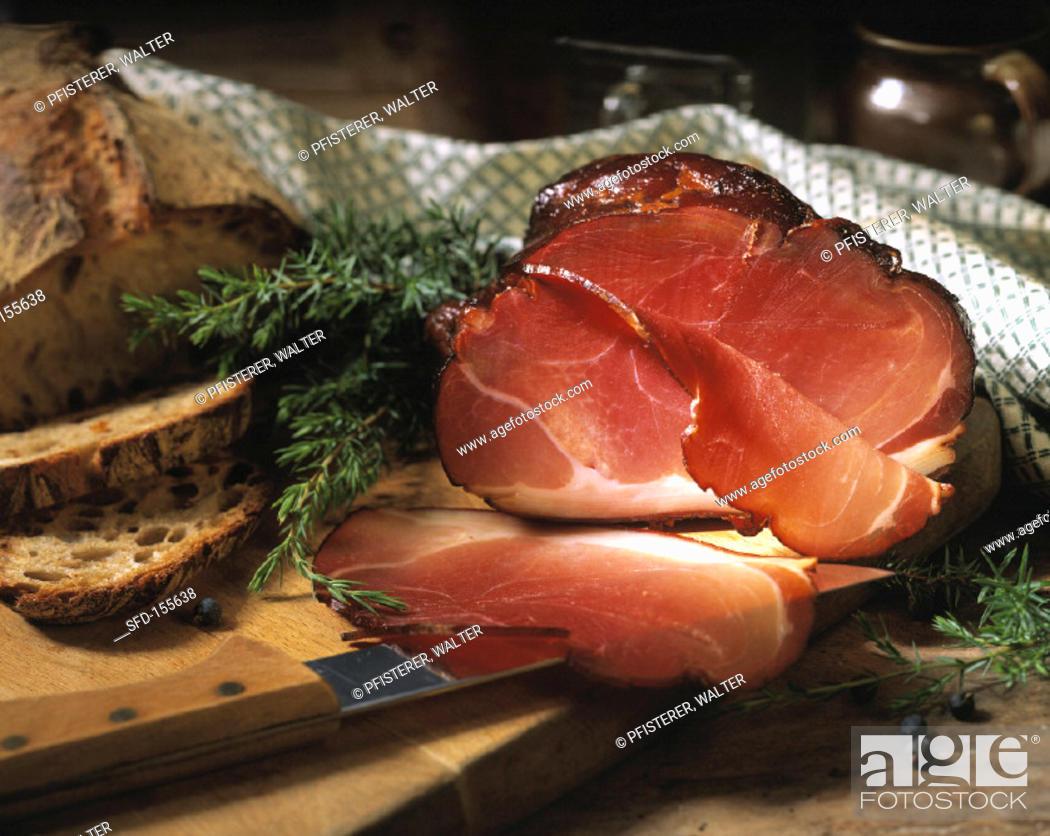 Stock Photo: A Glazed Ham.