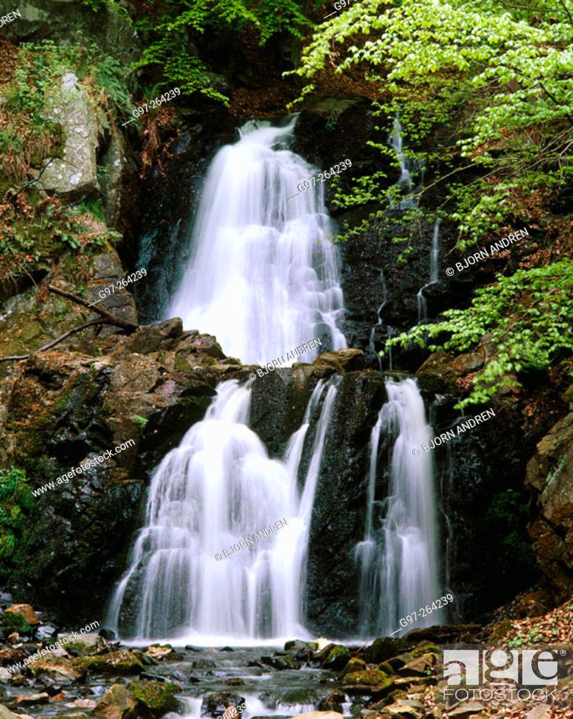 Imagen: Waterfall in Forsakar . Skane. Sweden.