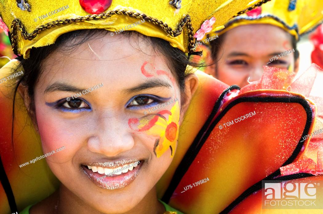 Stock Photo: Pintaflores festival, San Carlos, Negros Occidental, Philippines.