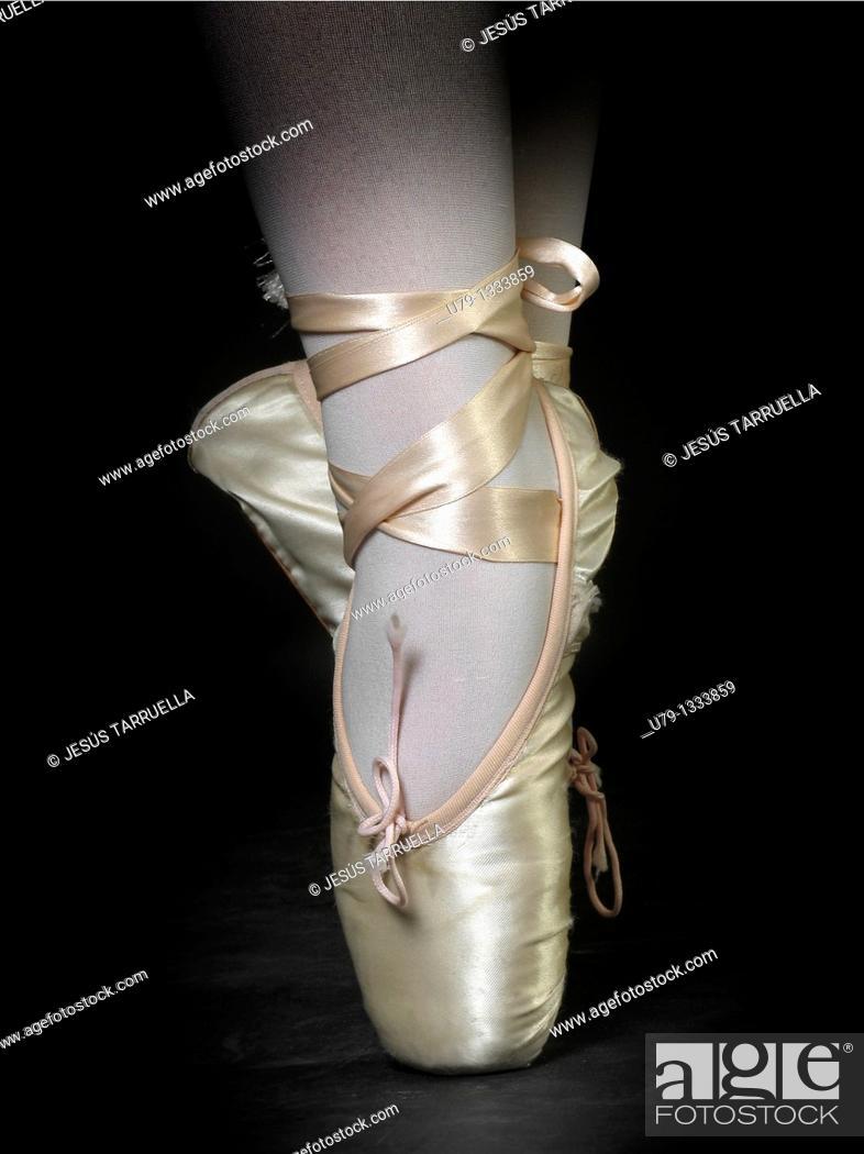 Stock Photo: Ballet slippers.