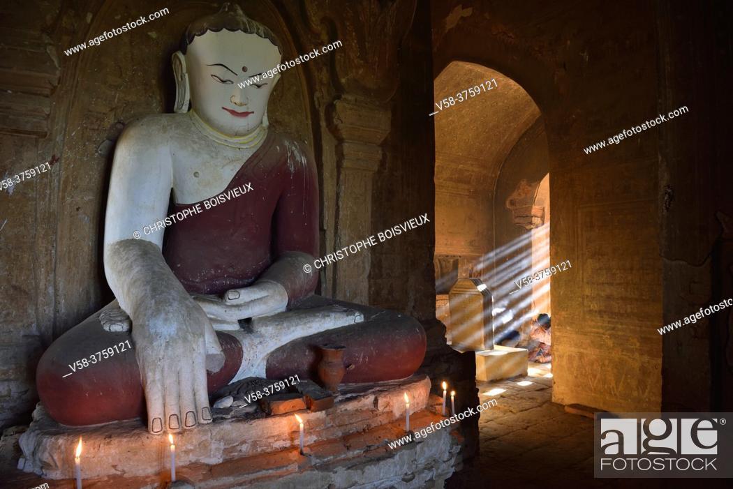 Stock Photo: Myanmar, Bagan, Minnanthu, Thin Kan Yone temple.