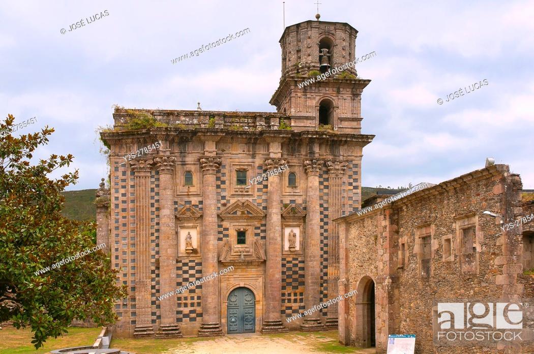 Stock Photo: Monfero Abbey-12th century, La Coruña province, Region of Galicia, Spain, Europe.