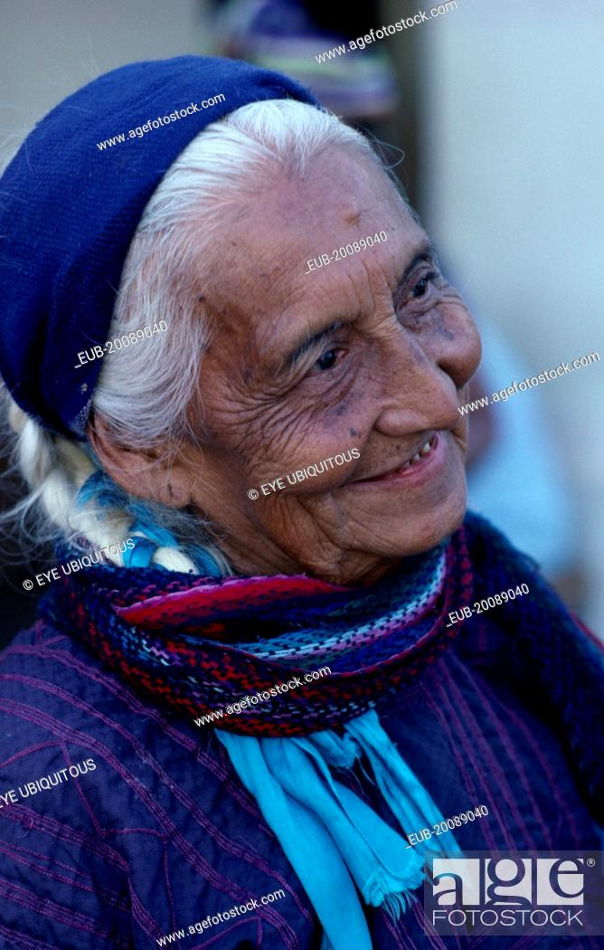 Matriarchal society  Head and shoulders portrait of elderly woman