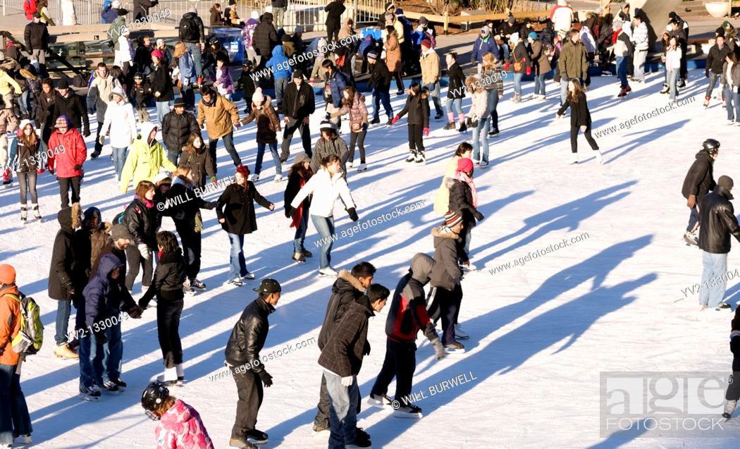 Stock Photo: Skating at Nathan Philips Square Toronto.