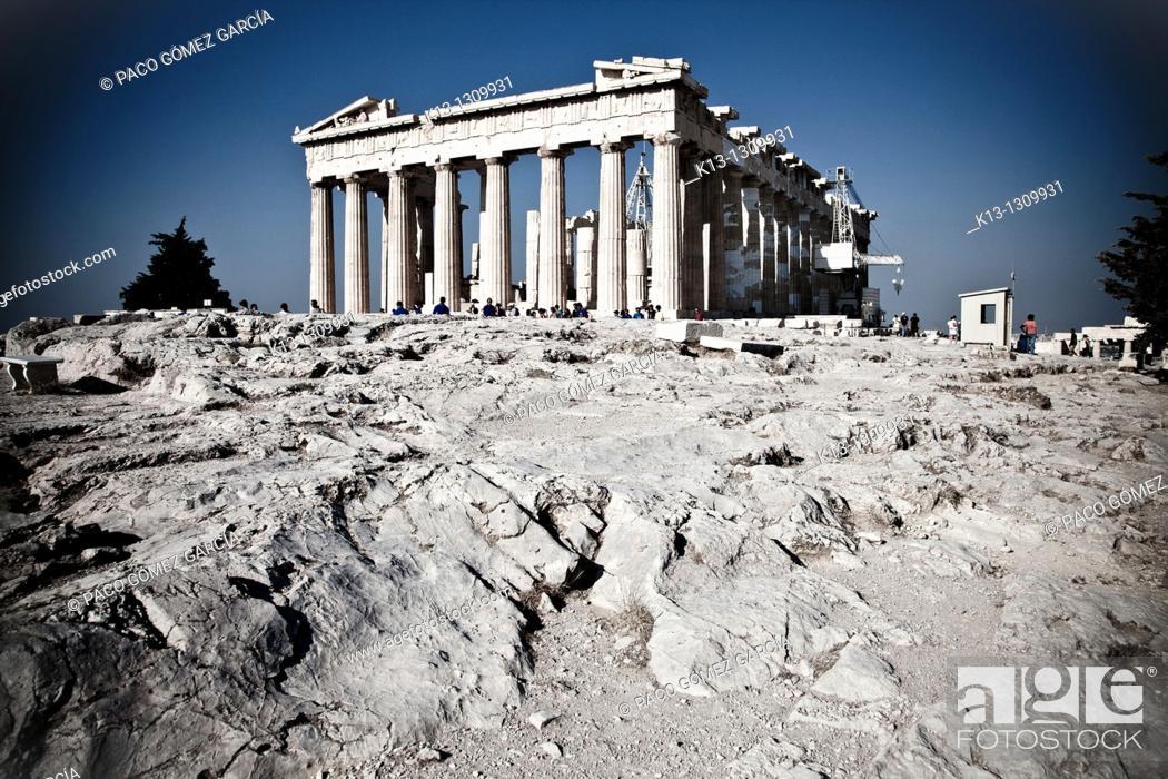 Stock Photo: Parthenon on the Acropolis  Athens  Greece.