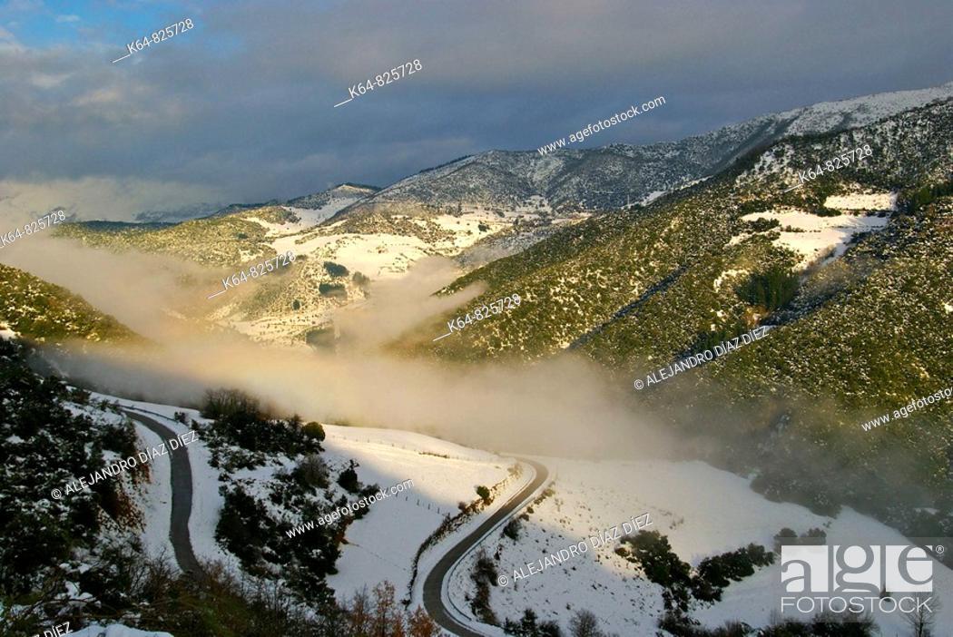 Stock Photo: Vega de Liébana Valley. Tudes and Tollo. Liébana, Cantabria,Spain.