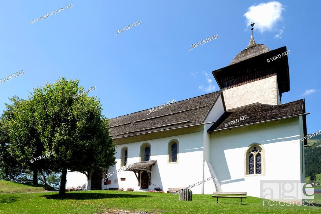 Stock Photo: Switzerland, Canton Vaud, Chateau d'Oex, landscape.