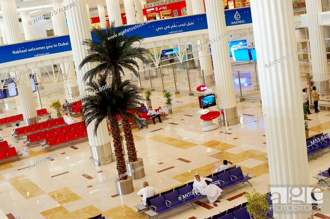 Stock Photo: the new dubai airport terminal 3  dubai  united arab emirates  middle east.