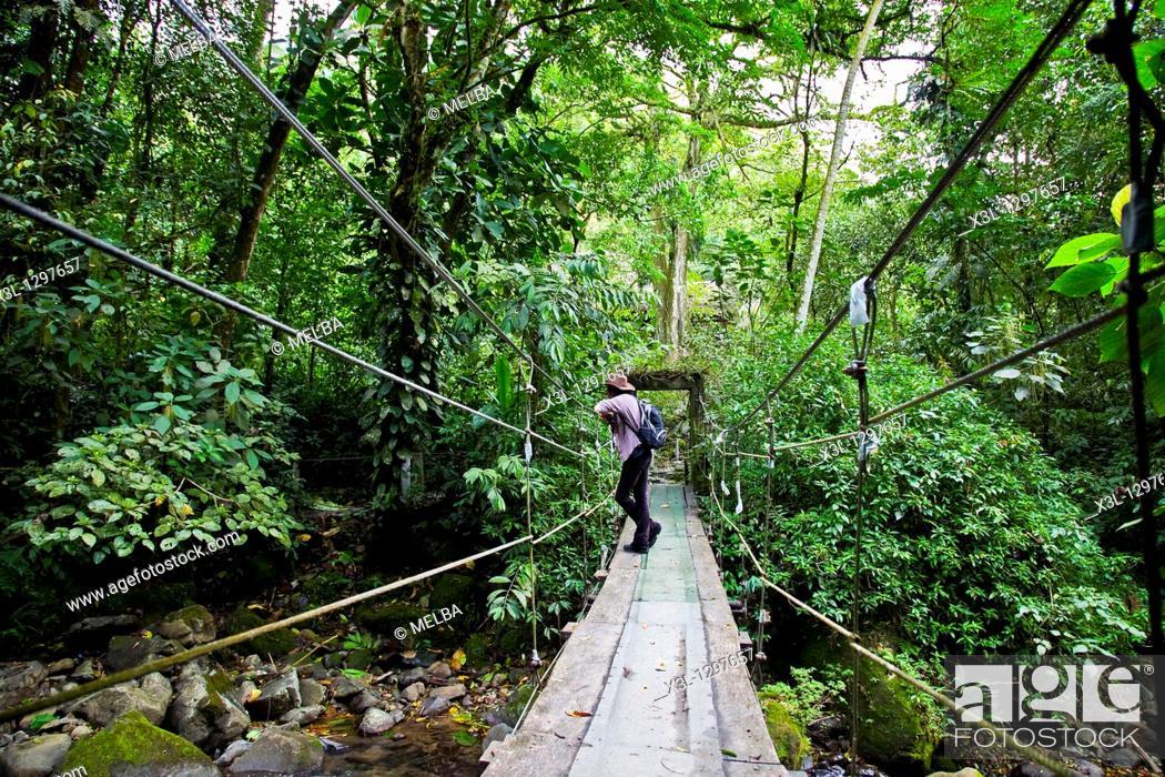 Stock Photo: Bridge in El Chorro de el Macho, El Valle Antón, Panamá.