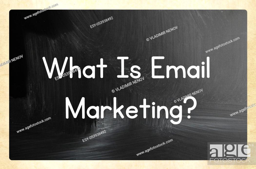Stock Photo: what is email marketing?.