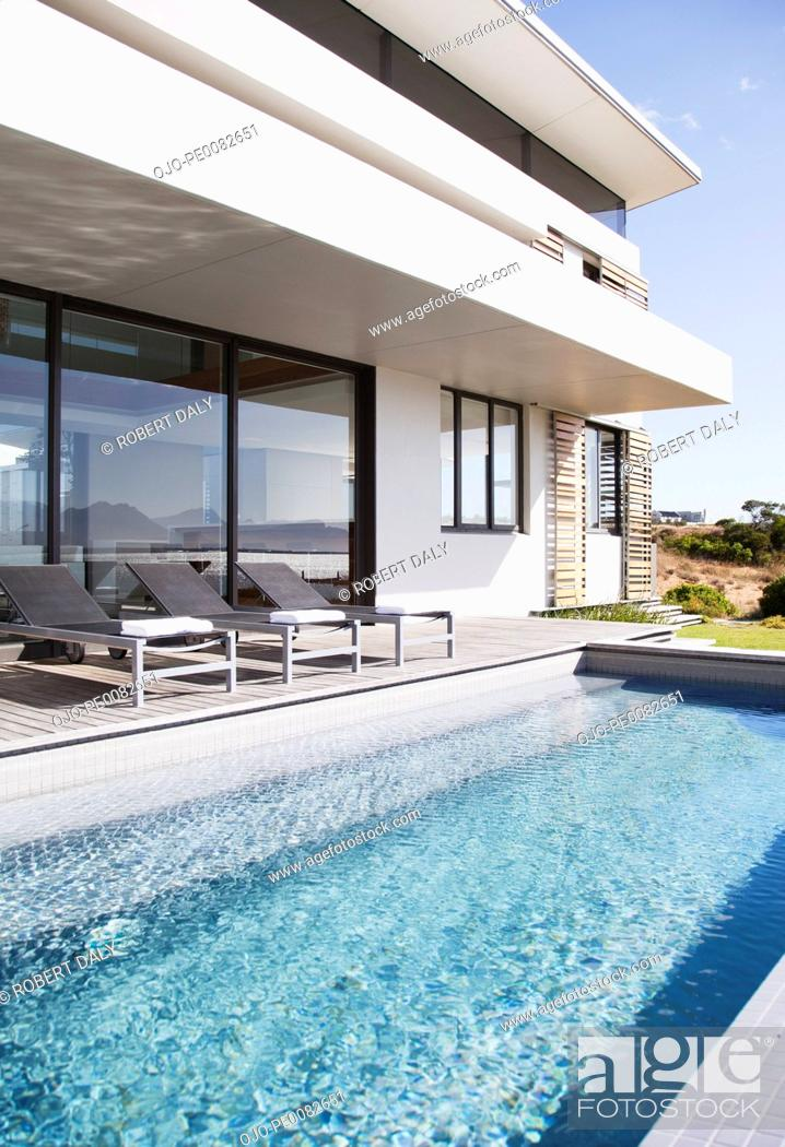 Stock Photo: Swimming pool of modern house.