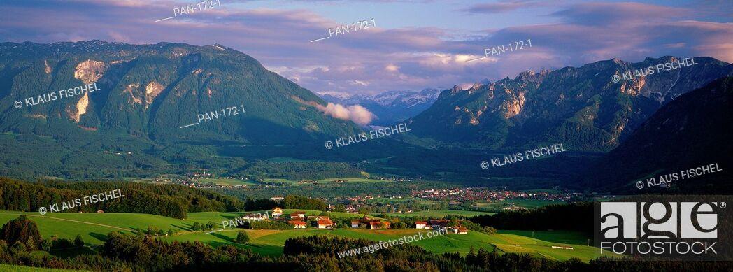 Stock Photo: Bavarian Alps, Bavaria, Germany.
