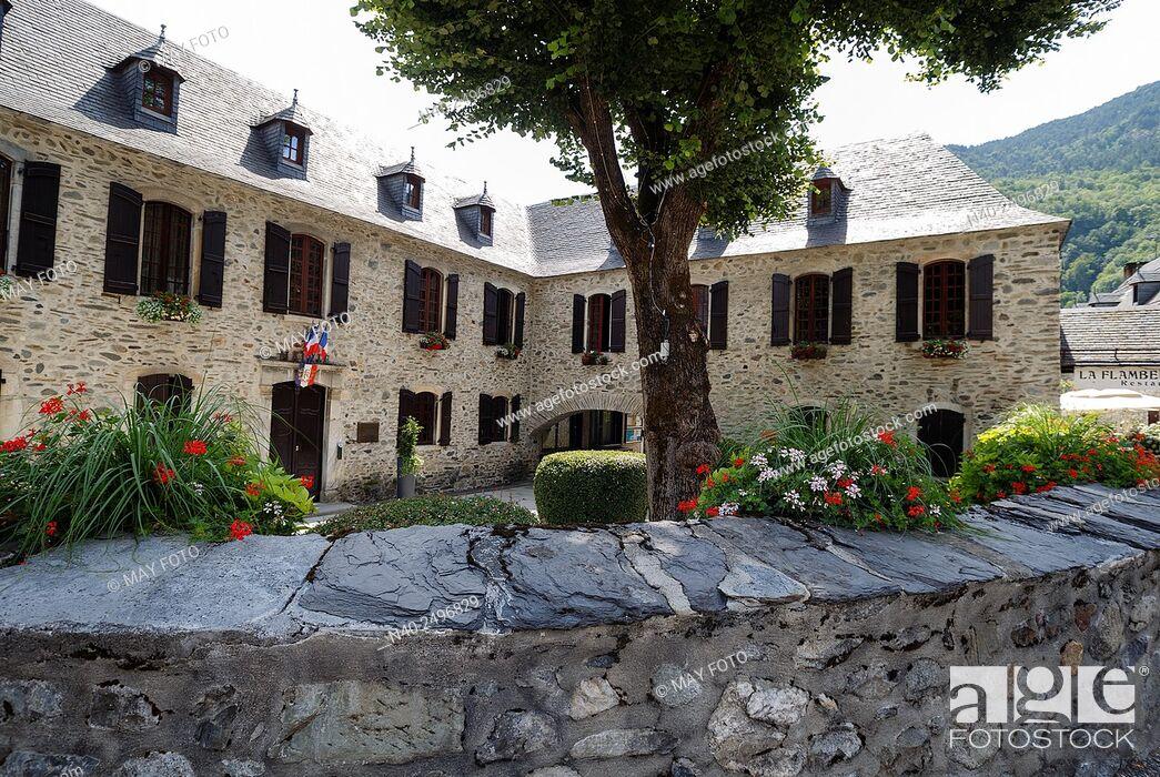 Stock Photo: Saint Lary town hall, France.