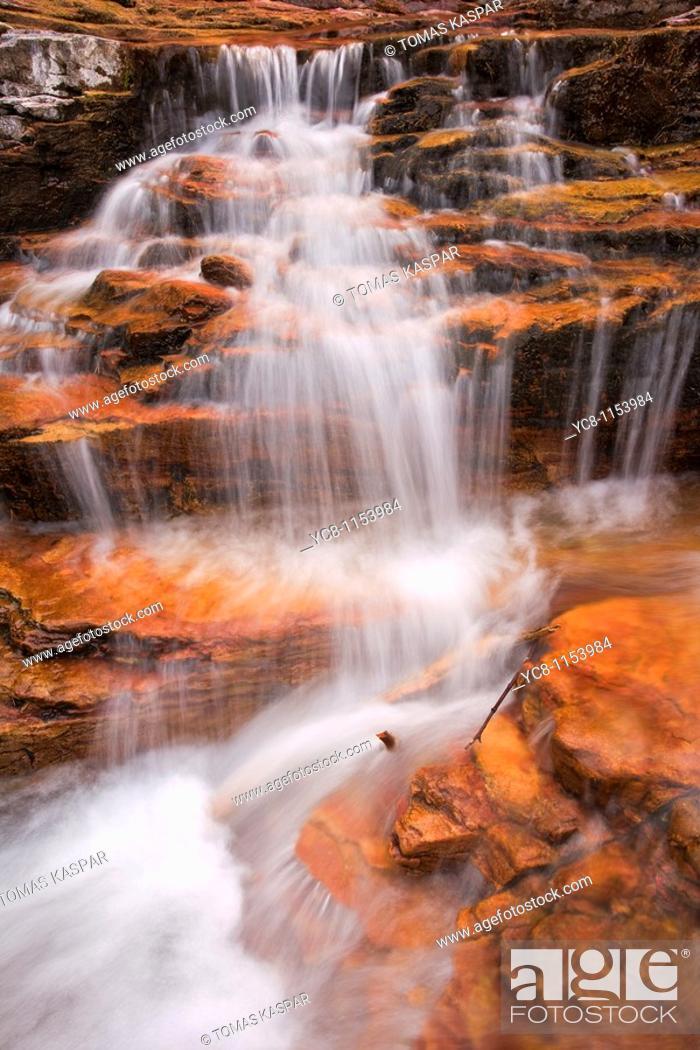 Stock Photo: Virginia falls near Saint Mary Lake, Glacier National Park.