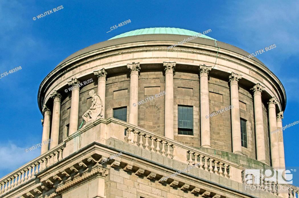 Stock Photo: Four Courts. Dublin. Ireland.
