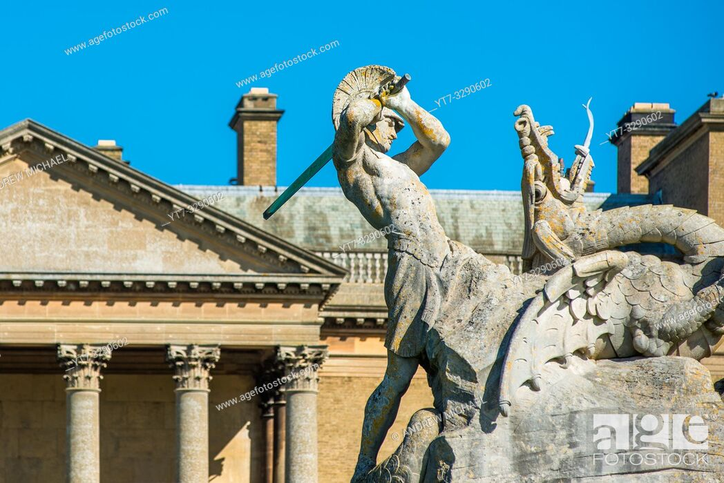 Stock Photo: Holkham hall Stately home in North Norfolk, East Anglia, England, UK.