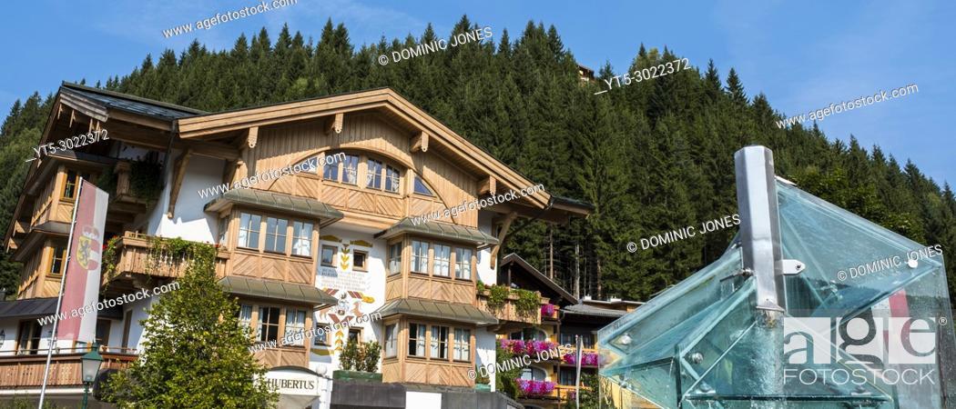 Stock Photo: The village centre, Filzmoos, Austria, Europe.