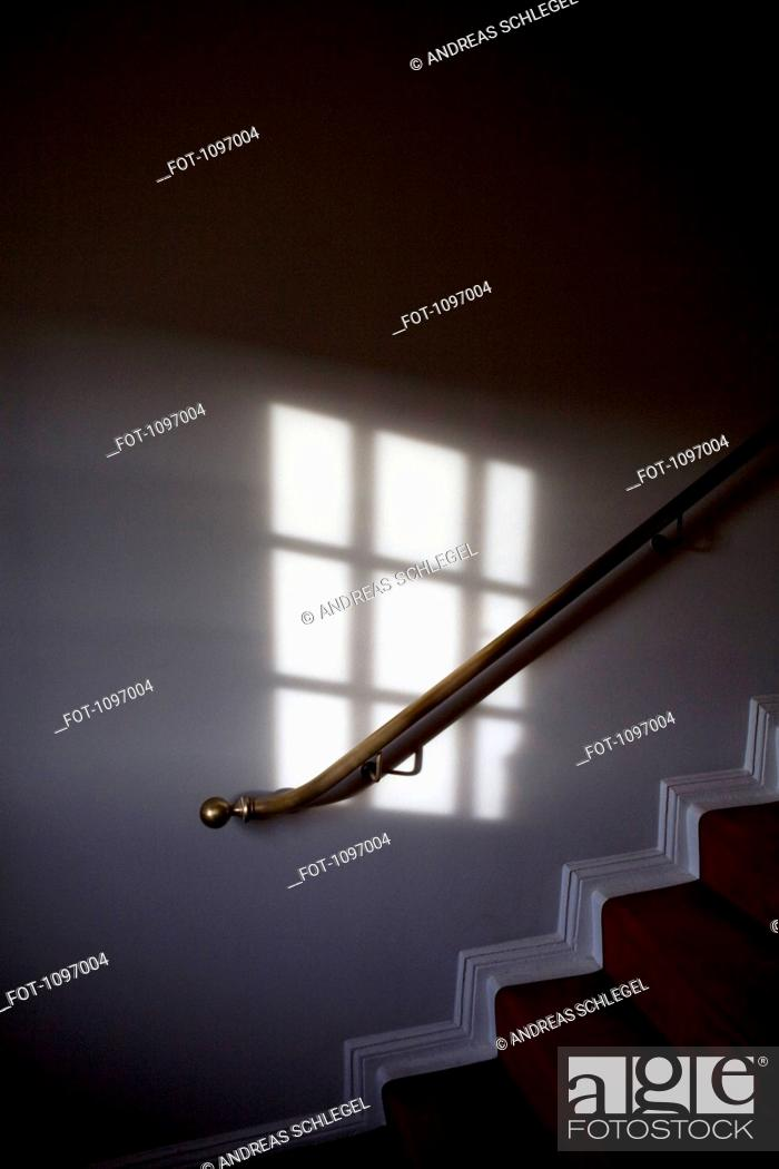 Stock Photo: Detail of a wall and staircase.