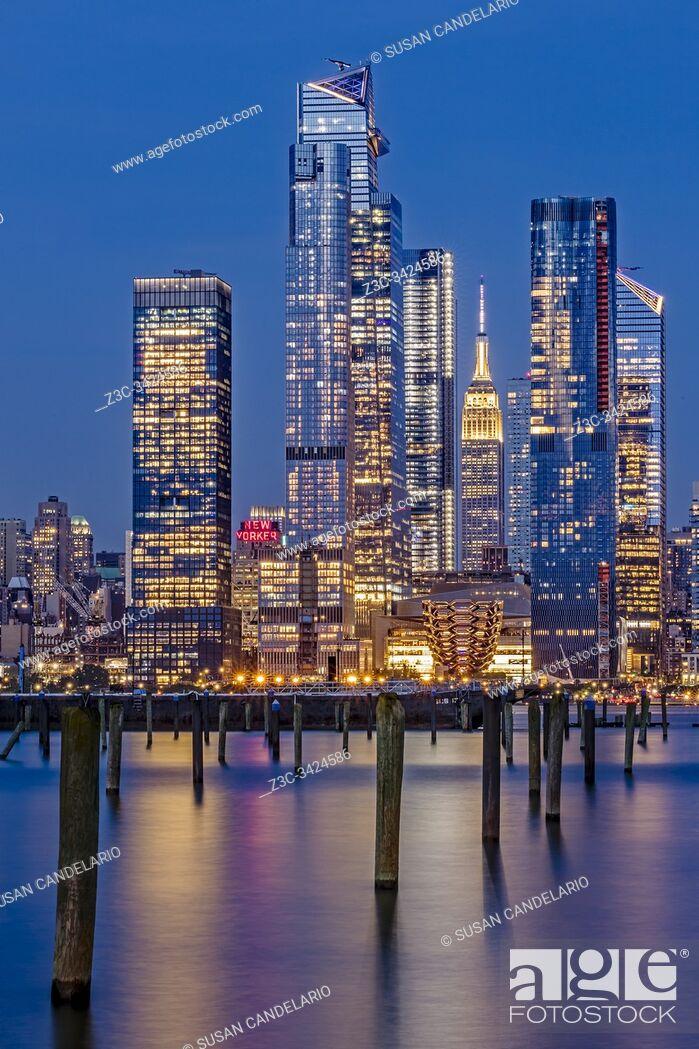 Stock Photo: NYC Hudson Yards Skyline.