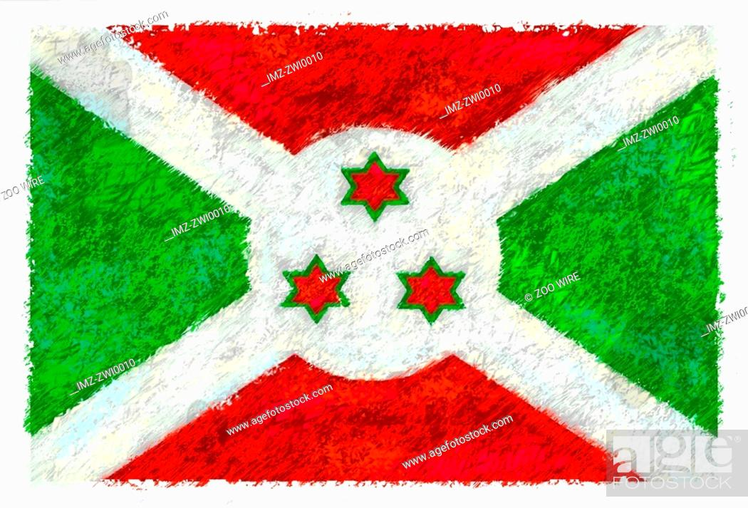Stock Photo: Flag of Burundi.