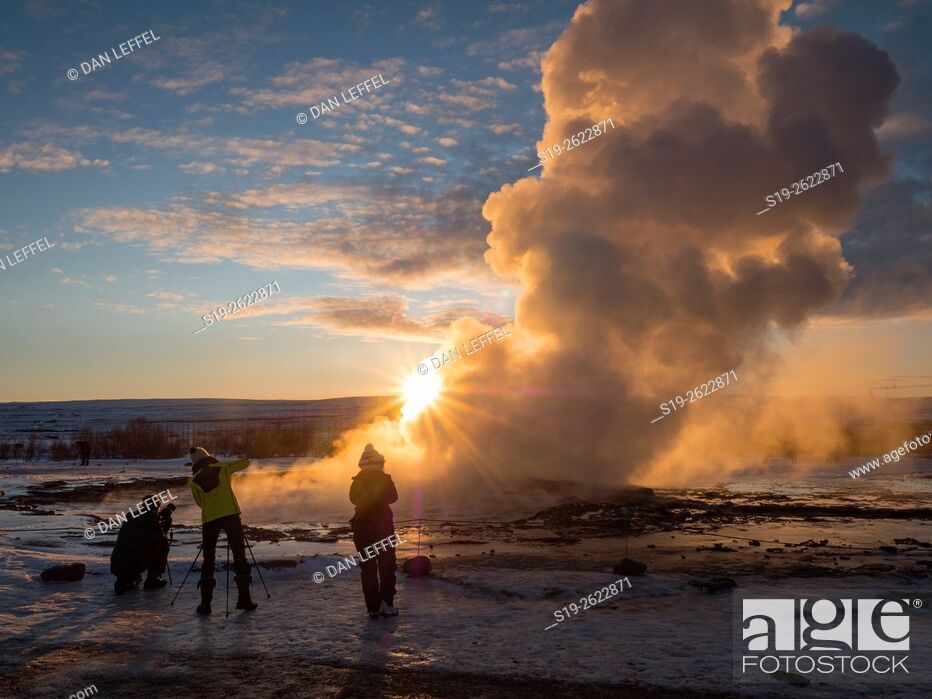 Imagen: Iceland Geysir Eruption.