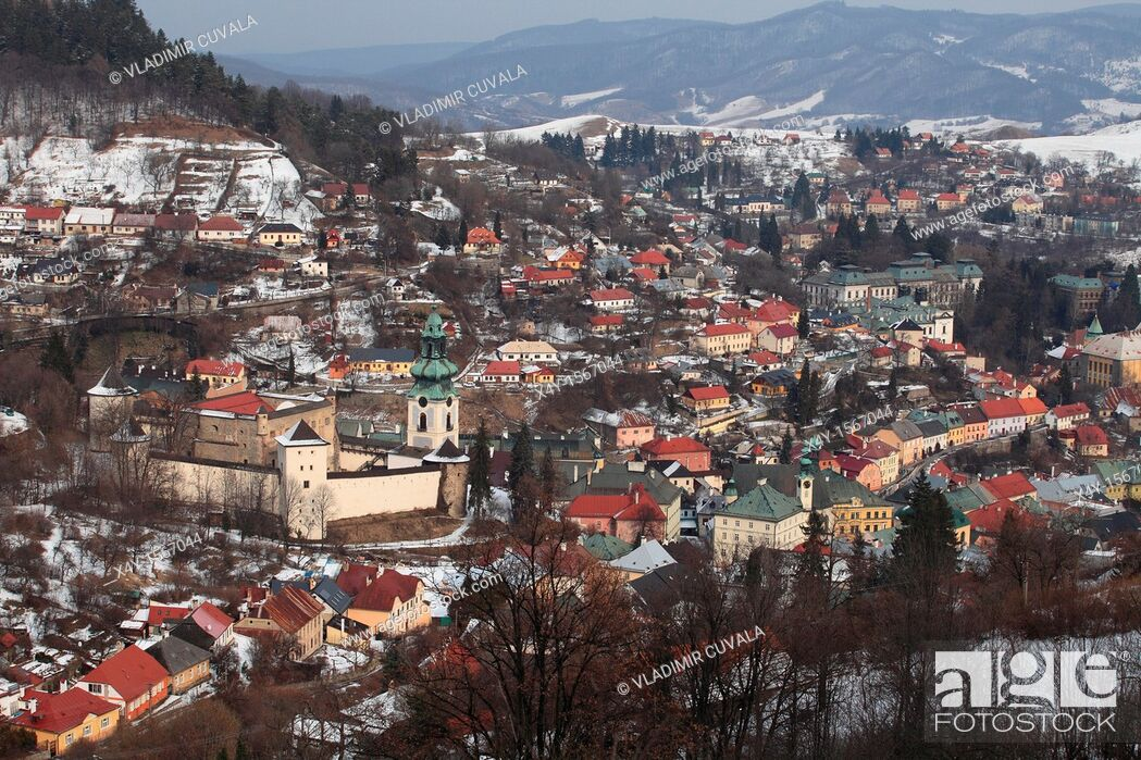 Stock Photo: The medieval castle 'Stary zamok' in Banska Stiavnica, the old mining town registered on the UNESCO World Heritage list.