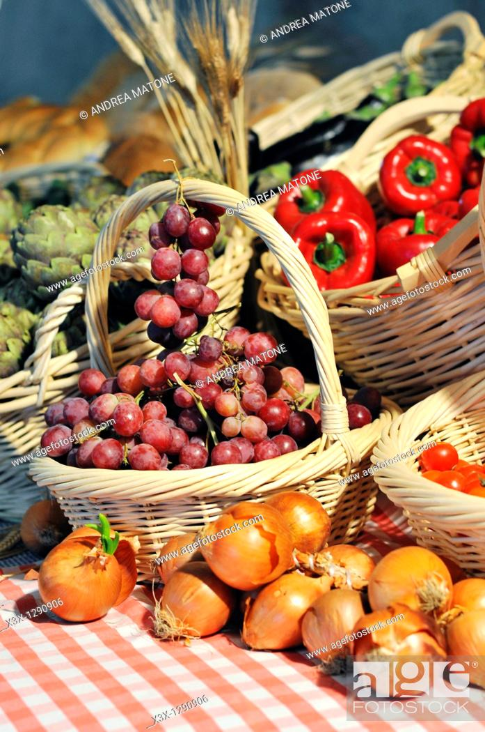 Stock Photo: Typical Italian agricultural produce.