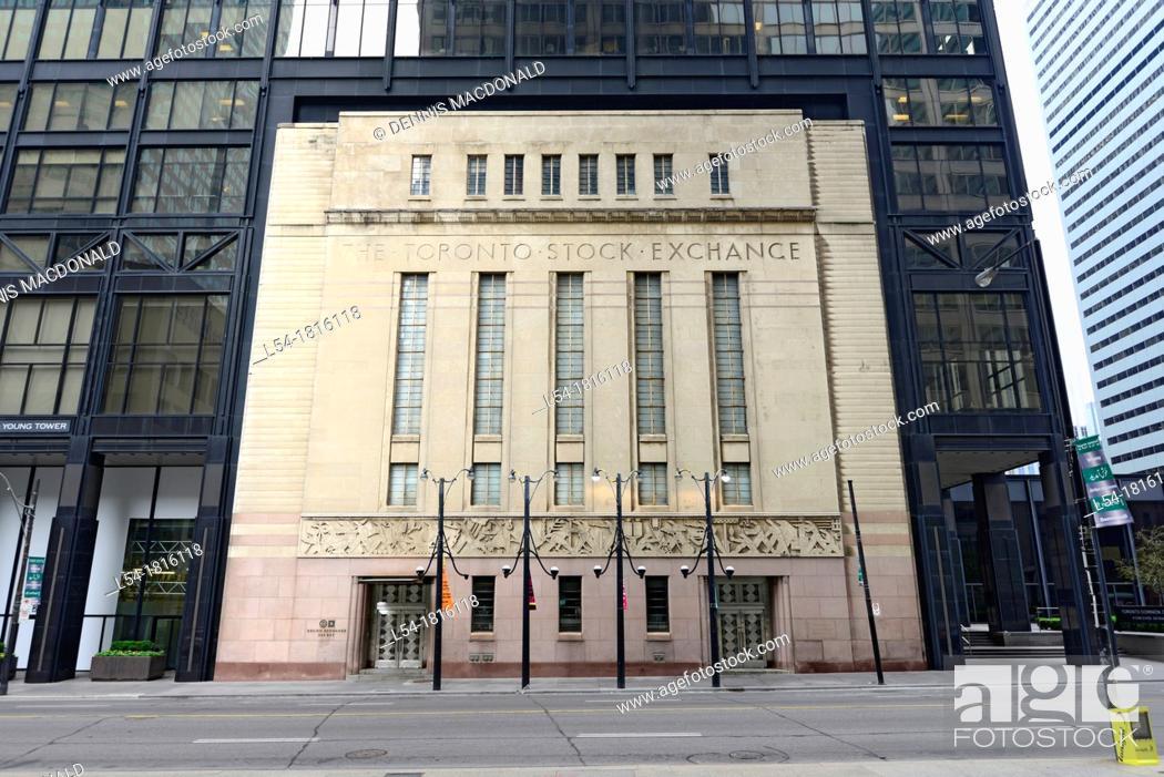 Stock Photo: Toronto Stock Exchange Downtown city life Toronto Ontario Canada.