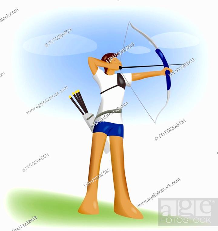 Stock Photo: competition, player, athlete, Olympic games, Western-style archery, Olympic.