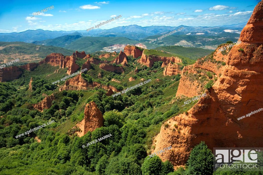 Stock Photo: Las Médulas, Province of Leon, Castile and Leon, Spain.