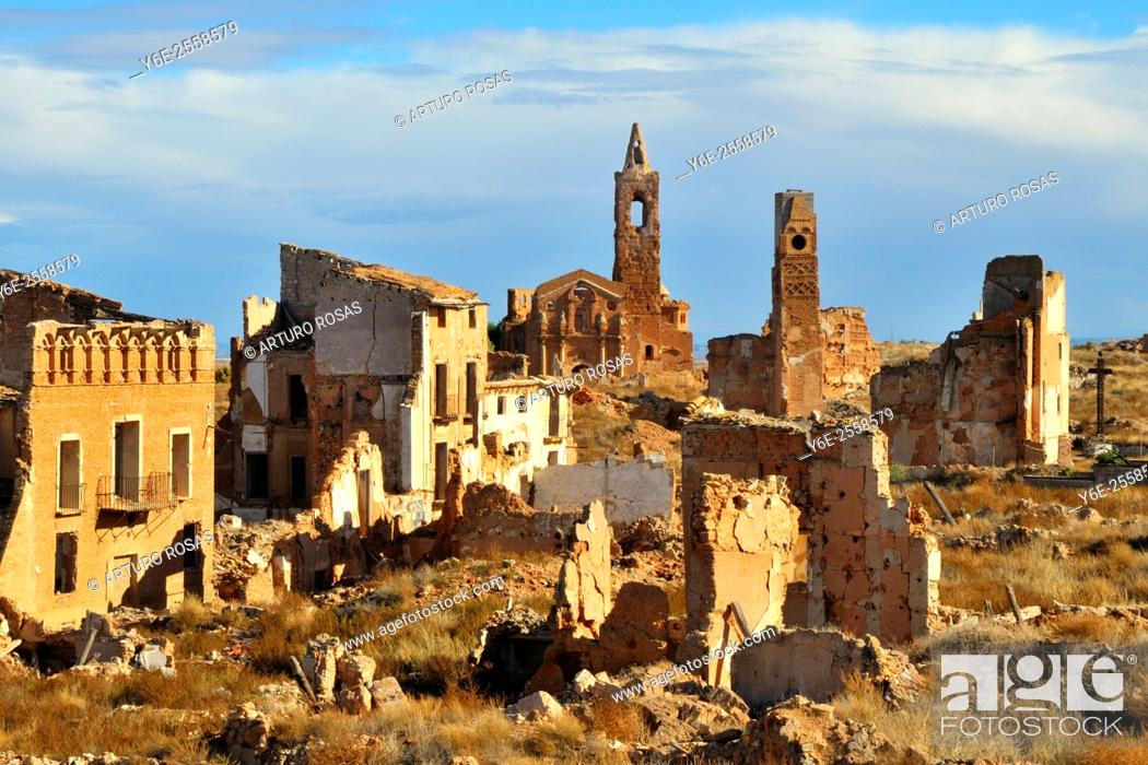Stock Photo: Belchite (Saragossa), Aragon. Spain.