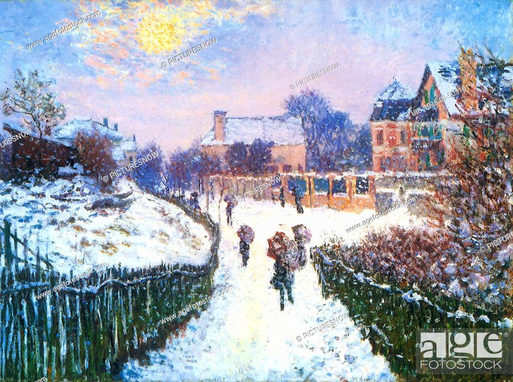 Imagen: Boulevard Saint-Denis, Argenteuil, in Winter.