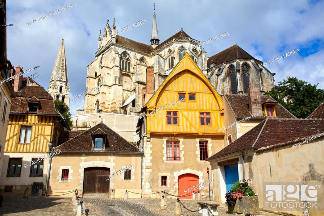 Stock Photo: Abbaye Saint-Germain, Auxerre, Yonne, Burgundy, Bourgogne, France, Europe.