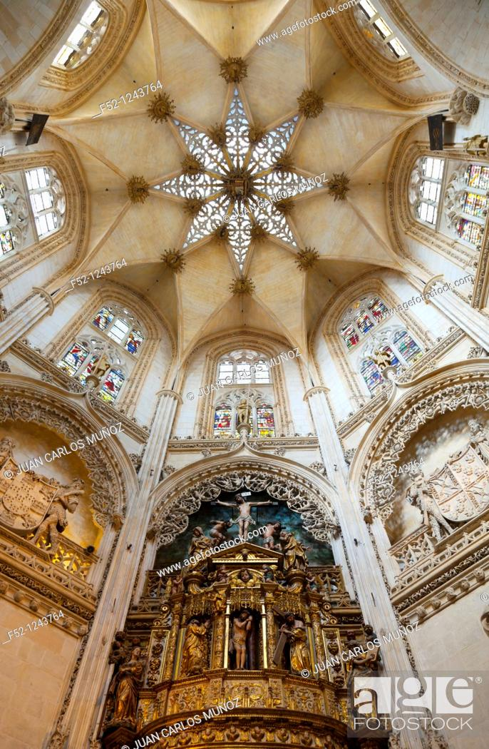 Stock Photo: Chapel of the Condestables in the cathedral, Burgos, Castilla-Leon, Spain.