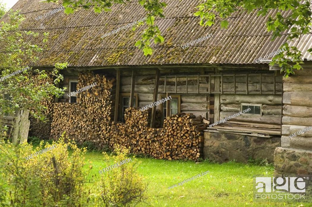 Stock Photo: Backyard, Cabin, Building Structure, Building Exterior, Arrangement.