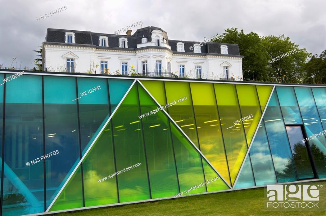 Stock Photo: Culture House and Peace House in Aiete Park, Donostia-San Sebastián, Guipúzcoa, Basque Country, Spain.