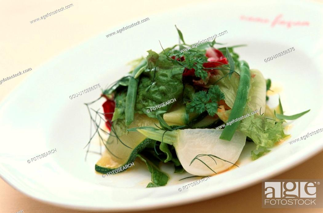 Stock Photo: Vegetable Salad With Courgette.