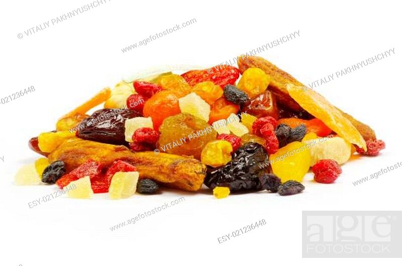 Stock Photo: dried fruits.