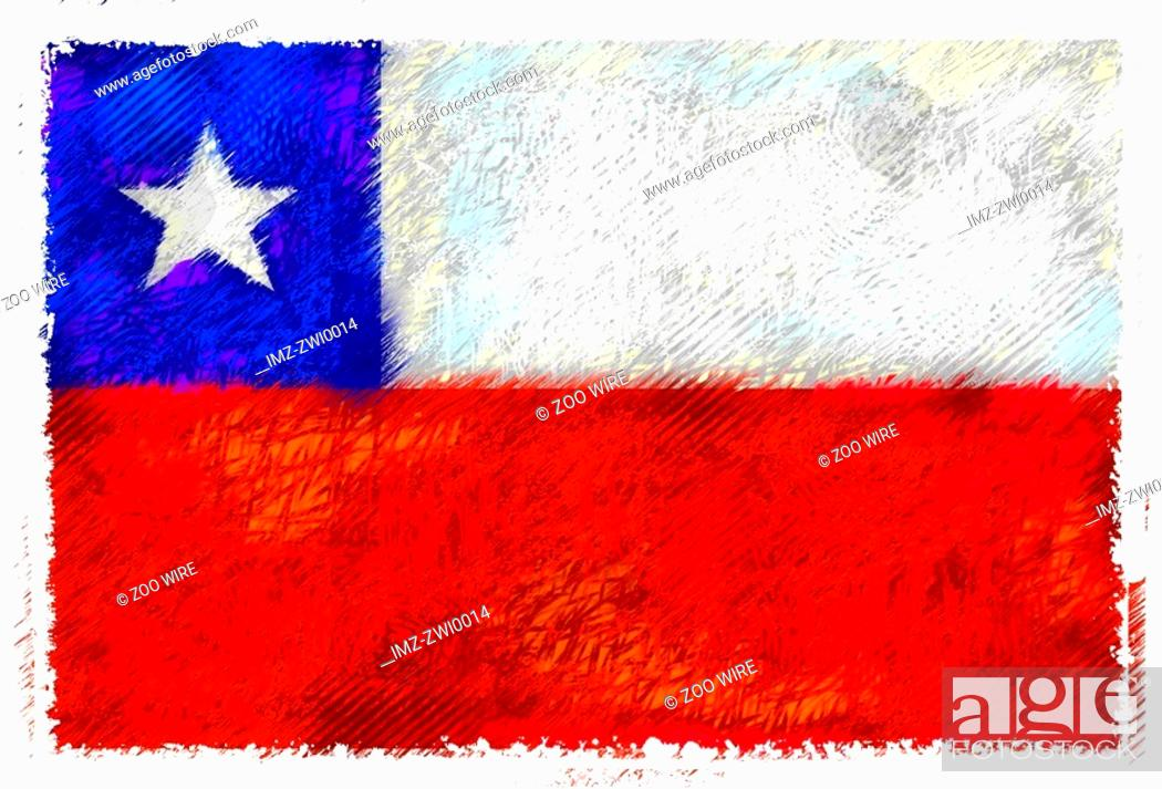 Stock Photo: Flag of Chile.