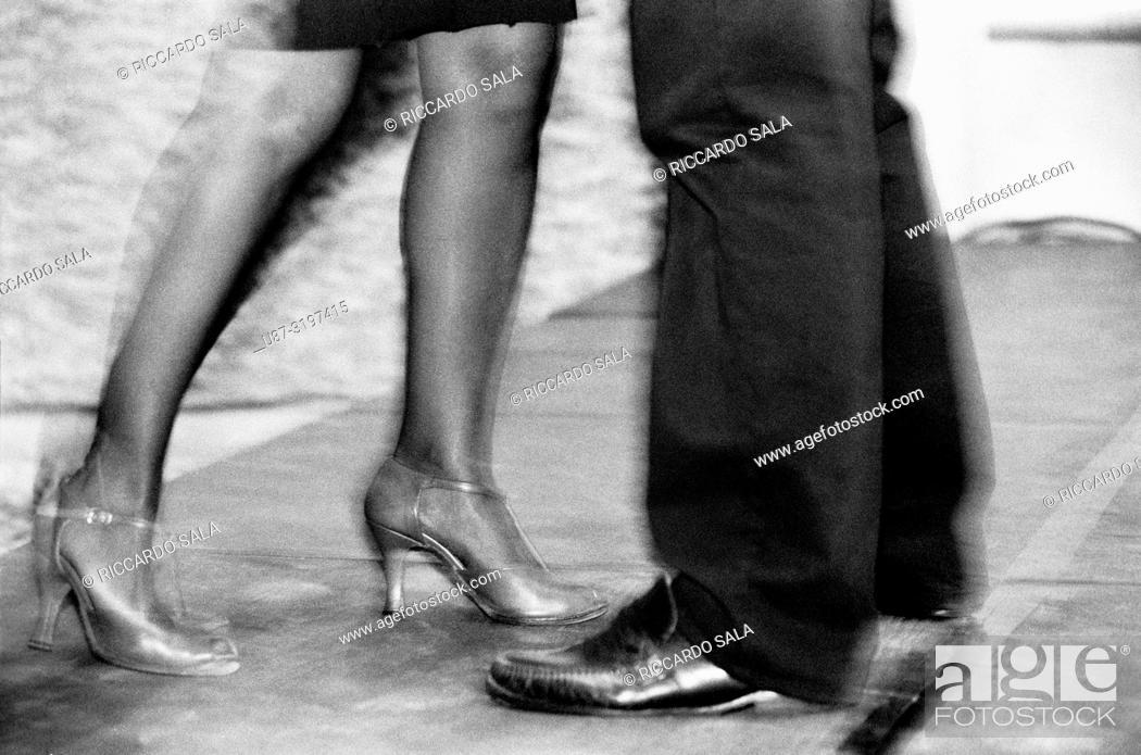 Stock Photo: Couple Dancing Argentinian Tango.