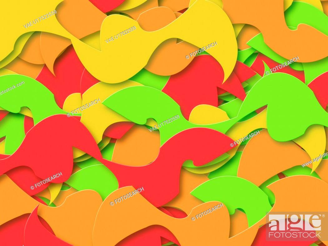 Stock Photo: Multi-Colored Abstract Shapes.