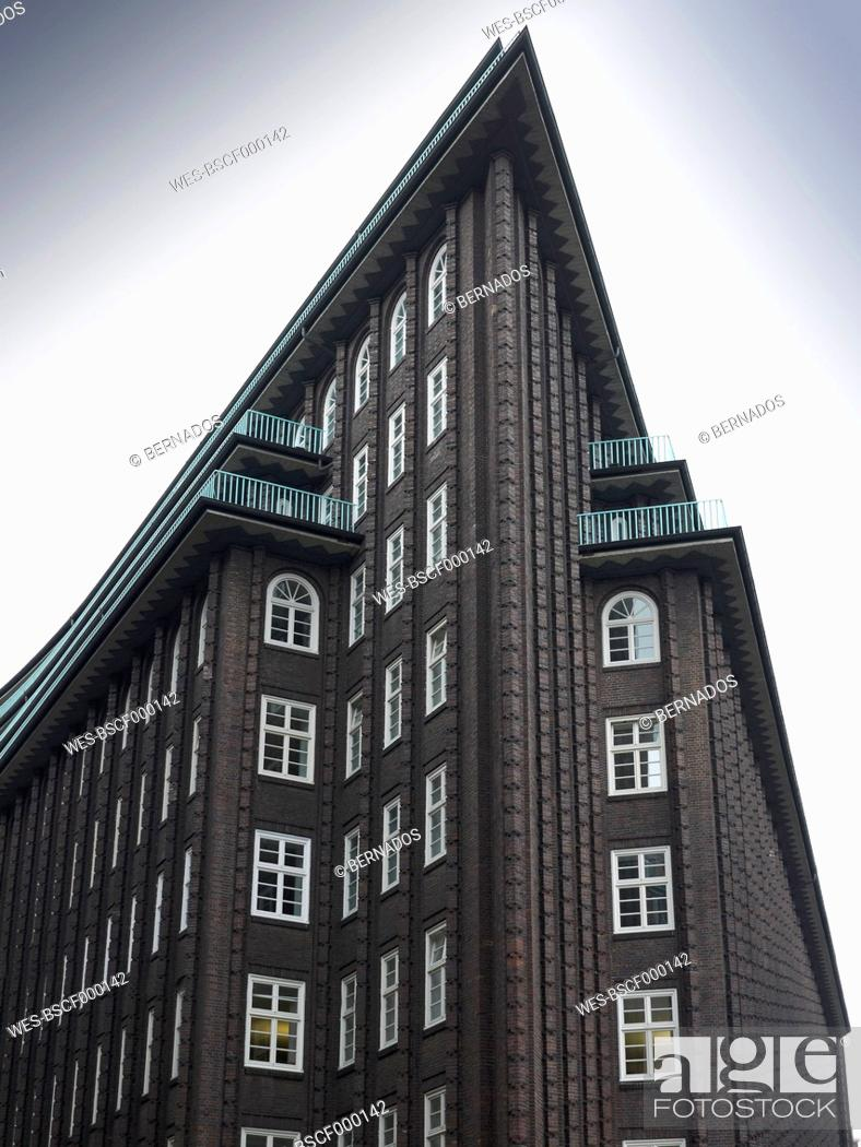 Stock Photo: Germany, Hamburg, View of Chile House.